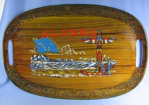 old ALASKA Souvenir Serving Tray - Vintage misc