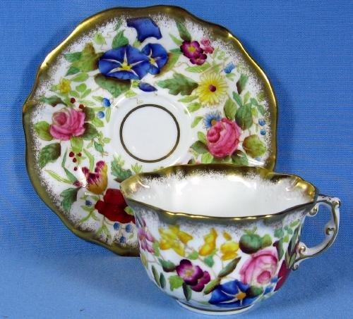 Hammersley Cup & Saucer Pottery AWESOME Rich Color English Porcelain