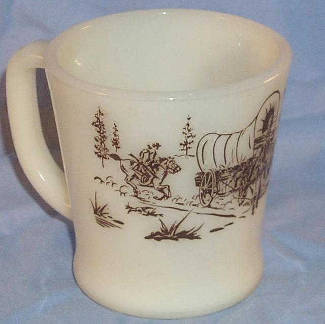 DAVY CROCKETT Milk Glass Mug