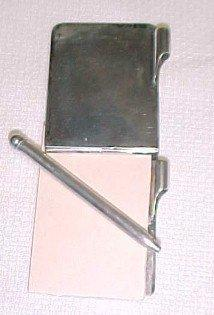 Sterling Chatelain Note Pad Pen - Silver