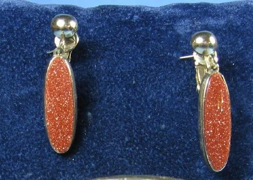 Jewelry  Vintage GOLDSTONE Drop Earrings - Costume Jewelry