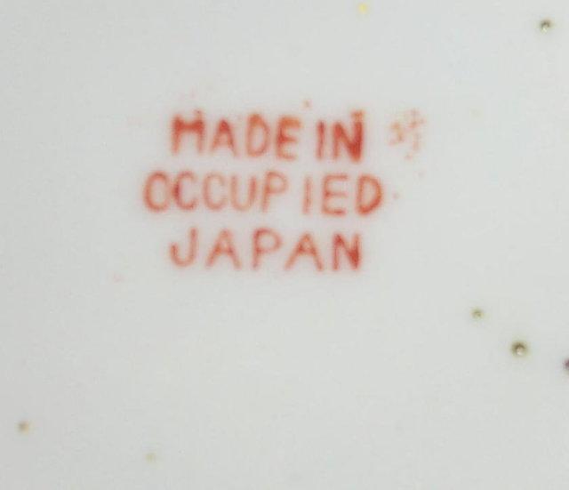 4 Occupied Japan Porcelain DRAGONWARE Demitasse Cup and Saucer Sets