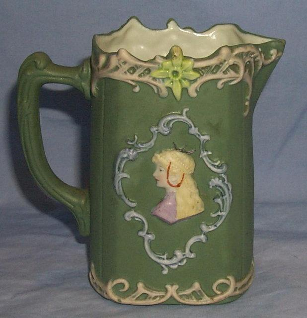 Cameo Decorated Porcelain Creamer