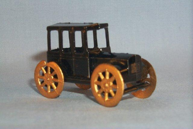 Miniature Hand Painted Old Times Antimony Automobile in Original Box - Toys