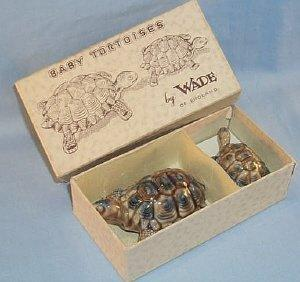 Pair of WADE Porcelain BABY TORTOISES in Original Box