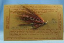 old Vintage Hand Tied Fly Fishing Lure - BULL MOOSE  - Trout Bass Salmon Rainbow Fish  Bait - Vintage sporting