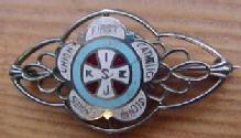 SLOVIC CATHOLIC  1930 Enameled LADIES UNION PIN