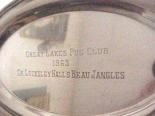 Silver Plate 1963 Beau Jangles Great Lakes Club  - Silver