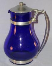 Glass Cobalt Water Pitcher