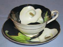 Occupied Japan LILY Porcelain Cup and Saucer