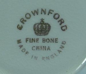 Pottery Crownford  Bone China TRELLIS  & FLOWER Teacup and Saucer - Vintage English Porcelain Cup & Saucer