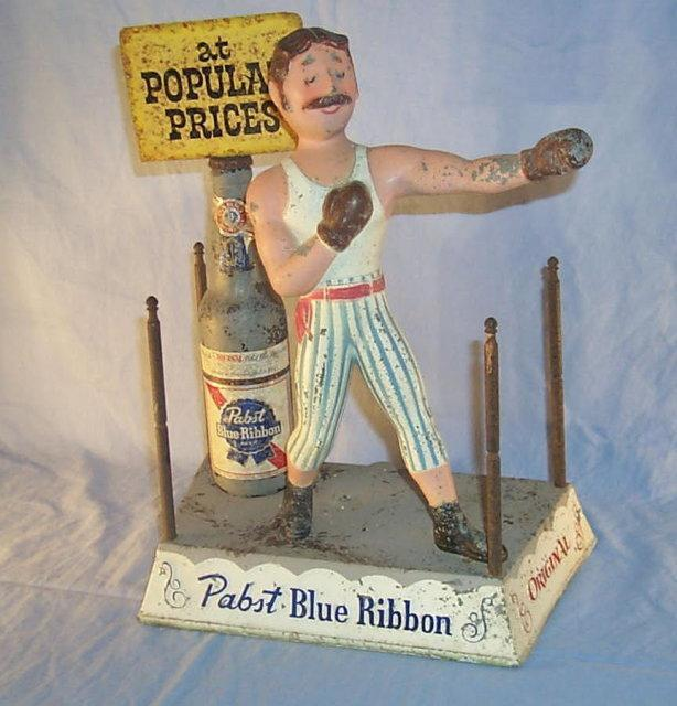 PABST BEER Boxer in Ring - Advertising