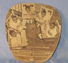 DIONNE QUINTUPLETS  Advertising Paddle Fan - Paper