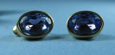old Designer GIVENCHY New York  Alexandrite Earrings - Vintage Estate Jewelry