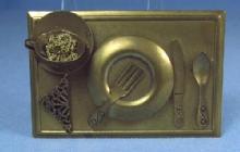 old California Designer signed JAN MICHAELS 3-D Brooch Pin - Vintage Estate Jewelry