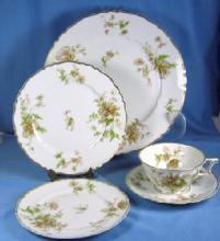 Haviland POPPY Pottery Porcelain Dinnerware 60pc