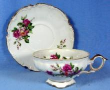Ucagco Square Foot Cup & Saucer Made in Japan Porcelain
