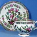 Pottery  Elizabethan Melon Shape Ribbed Cup & Saucer Indian Tree - Vintage porcelain