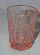 Pink MAYFAIR OPEN ROSE Depression Glass Whiskey Glass