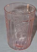 Pink MAYFAIR OPEN ROSE Depression Glass Water Tumbler