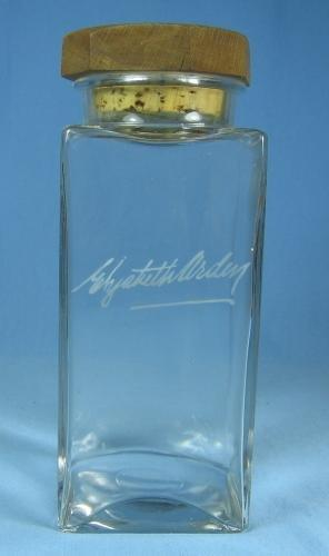 Mini  Vintage Elizabeth Arden Acid Etched Glass Vanity Bottle