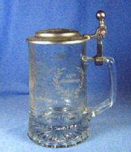 old vintage Statue of Liberty Anniversary GLASS STEIN  - Vintage Breweriana