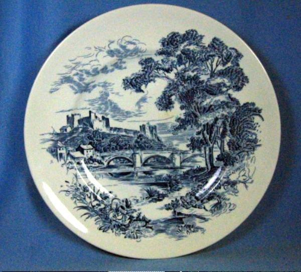Wedgwood COUNTRYSIDE Dinner Plate - Cobalt Blue & White Pottery