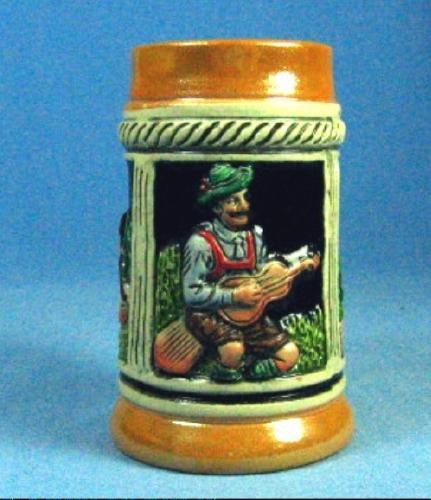 old vintage Miniature German Beer Stein - Vintage Breweriana Pottery