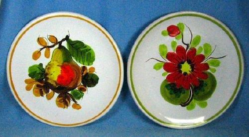 Italian Mojolica FRUIT Plates - Vintage Pottery Group
