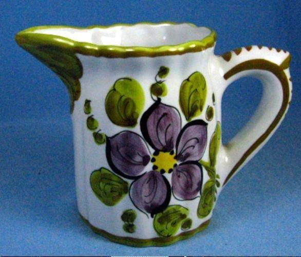 Folk Art Italian Cream Pitcher - Vintage Pottery