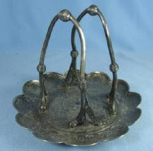 vintage Tufts Silver Plate RARE antique  Napkin Holder - Unusual Victorian What is IT?