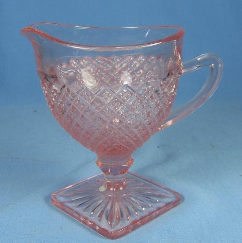 MISS AMERICA Depression Glass Creamer - Vintage Estate find