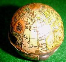 GLOBE World TRAVEL Inkwell - Metalware