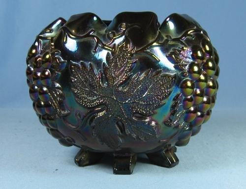 Dugan CARNIVAL GLASS GRAPE DELIGHT Amethyst Carnival Glass ROSE Bowl