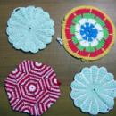 old Antique Crochet POT HOLDERS - Kitchen Textile