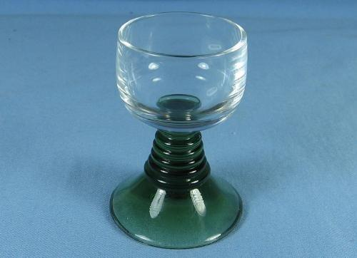 Green Czech Glass MASTER SALT or OPEN SALT DIP