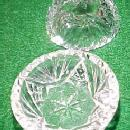 8 cut glass open salts - glass