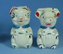Pottery COW Salt & Pepper Shakers