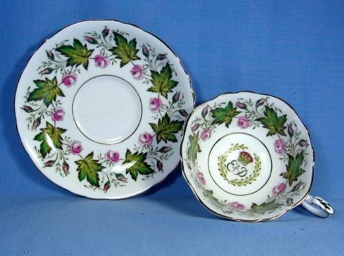 old Paragon 1951 Princess Elizabeth & Duke of Edinburgh Souvenir Visit to Canada - Antique Porcelain