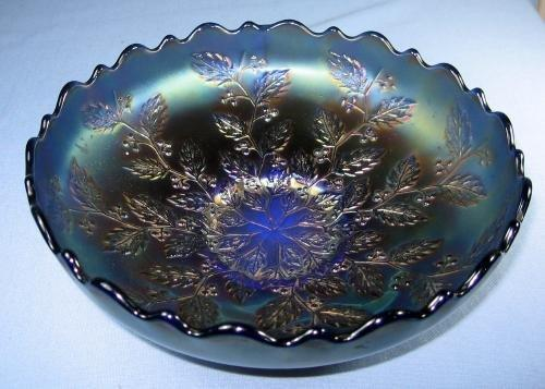 Fenton Carnival Glass HOLLY Pattern Bowl