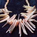 CORAL Necklace, Earrings and Bracelet - 3pc. Vintage Estate Jewelry