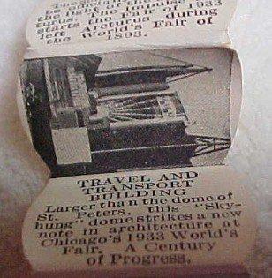 World's Fair 1933 Coaster Pictoral Set 6- Metalware