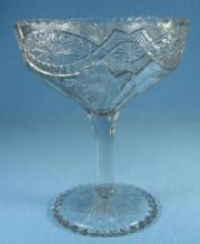 EAPG Jenkins Glass old THISTLEBLOW Pedestal Compote