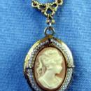 Jewelry  Vintage CAMEO LOCKET - Estate Jewelry