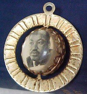 Kennedy + Martin Luther King  Charm Medallion - Political