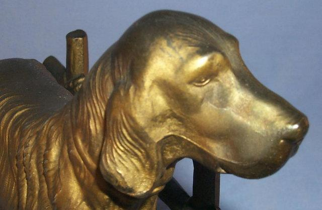 FRANKART Dog at the Fence Bookends - Metalware