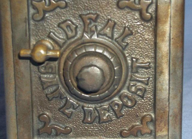 Ideal Safe Deposit COMBINATION SAFE Cast Iron Bank - Metalware