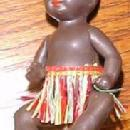 BLACK Plastic Baby Miniature GERMANY - Toy