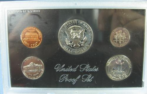US Mint 1972 PROOF Set Kennedy Half Dollar 5 Coin Collectible