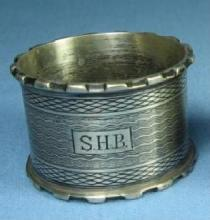 vintage Victorian Sterling Silver NAPKIN RING